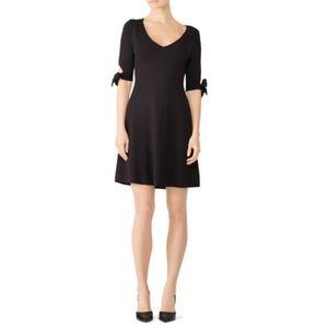 525 AMERICA | Black Knit Midi Dress Sleeve Ties S